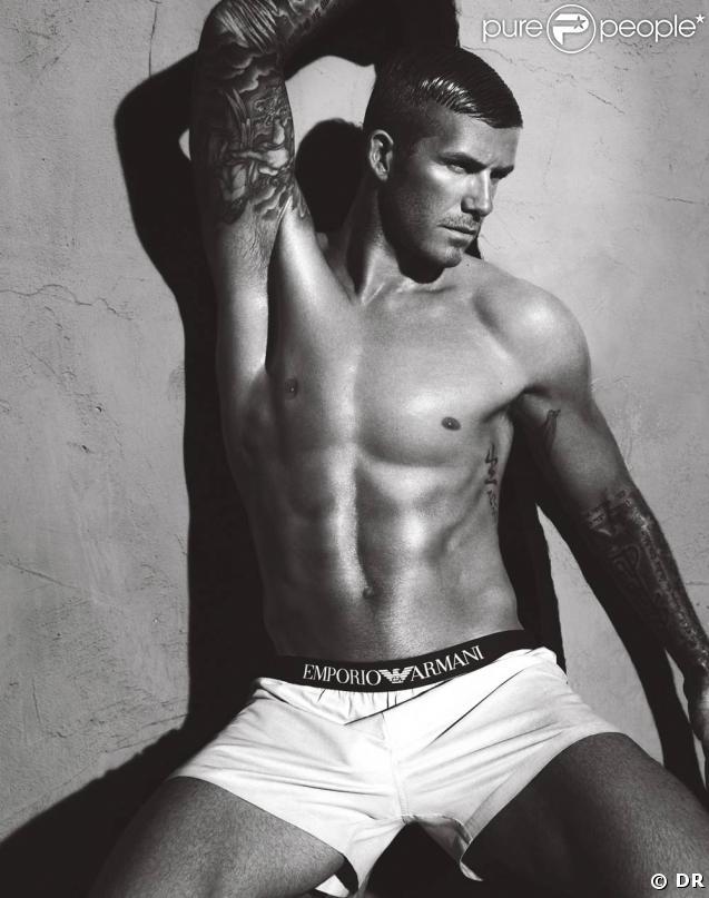 David Beckham, campagne Armani Underwear 09/10