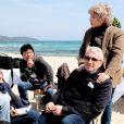 Exclusif - Michel Boujenah et Jacqueline Franjou lors de la conférence de presse de présentation de la saison 2019 du Festival de Ramatuelle sur la plage Serena à Ramatuelle. Le 18 avril 2019 © Valérie Le Parc / Nice Matin / Bestimage