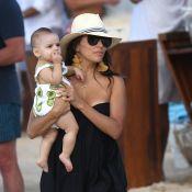 Eva Longoria : Détente totale avec son bébé et son mari à Saint-Barth