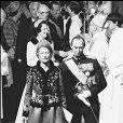 Le grand-duc Jean de Luxembourg et son épouse Joséphine-Charlotte en 1982 lors du mariage de leur fille la princesse Marie-Astrid. Le grand-duc est mort dans la nuit du 22 au 23 avril 2019 à l'âge de 98 ans.