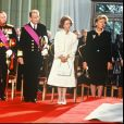 Le grand-duc Jean de Luxembourg et le roi Albert II de Belgique (alors prince), au centre, lors des funérailles du roi Baudouin en août 1993 à Bruxelles. Le grand-duc est mort dans la nuit du 22 au 23 avril 2019 à l'âge de 98 ans.