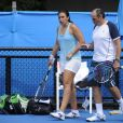Marion Bartoli et son père Walter Bartol au Melbourne Park, le 12 janvier 2013