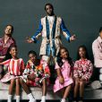 Diddy et ses enfants Quincy, D'Lila, Christian, Chance, Jessie et Justin posent pour le magazine Essence. Avril 2019. Photo par Dana Scruggs.