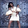 Kim Porter et ses filles jumelles, D'Lila Star et Jessie James.