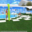 Le jardin de la maison de Secret Story 3