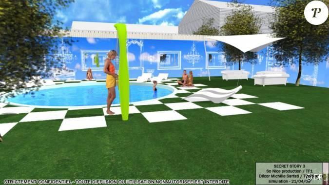 le jardin de la maison de secret story 3. Black Bedroom Furniture Sets. Home Design Ideas