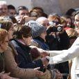 La reine Letizia d'Espagne à Lerma le 11 avril 2019.