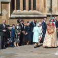 Le prince William, duc de Cambridge, et la duchesse Catherine de Cambridge assistaient le 21 avril 2019 à la messe de Pâques à la chapelle St-George au château de Windsor.