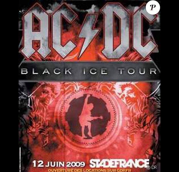 Affiche du concert d'AC/DC au Stade de France le 12 juin 2009