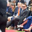 Exclusif - Arnold Schwarzenegger était présent pour son fils illégitime Joseph Baena, qui recevait son diplôme (en présence aussi de sa mère Mildred Patricia Baena) de la Pepperdine University à Malibu, Los Angeles, le 27 avril 2019.