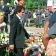 Alain Prost aux obsèques d'Ayrton Senna à Sao Paulo, le 8 mai 1994.