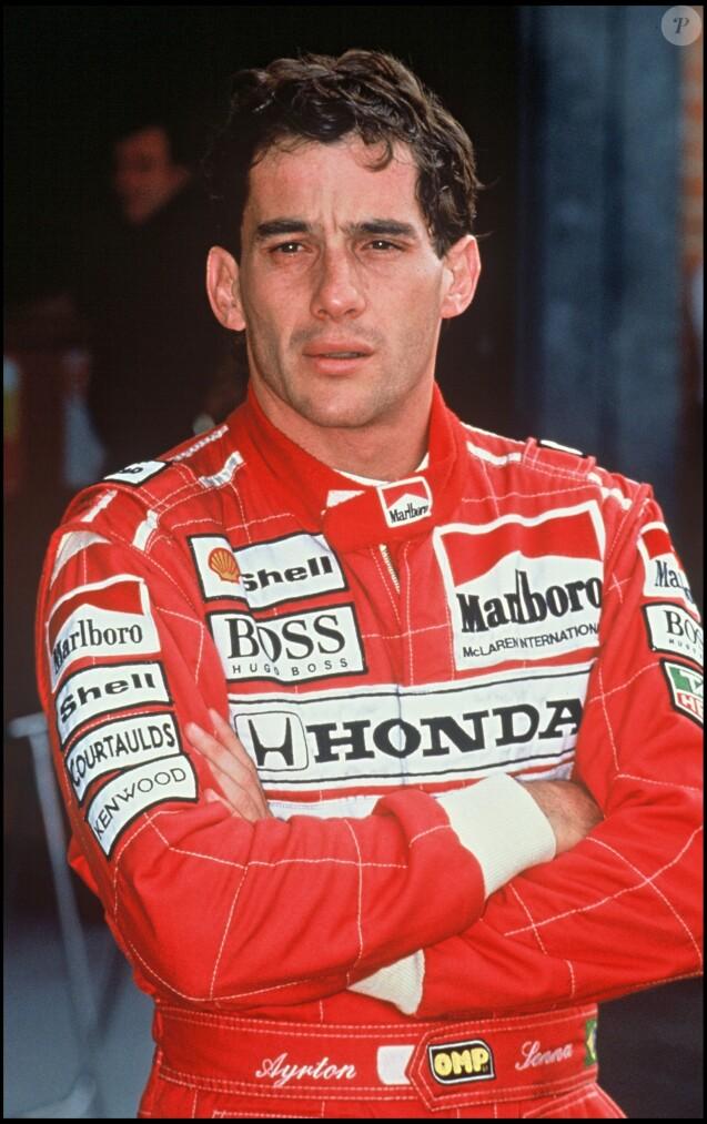 Ayrton Senna à Silverstone le 5 juillet 1992.