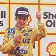 Ayrton Senna au Grand prix de Silverstone, le 13 juillet 1987.