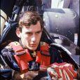 Ayrton Senna pendant les essais du Grand prix de Monaco, le 19 mai 1985.