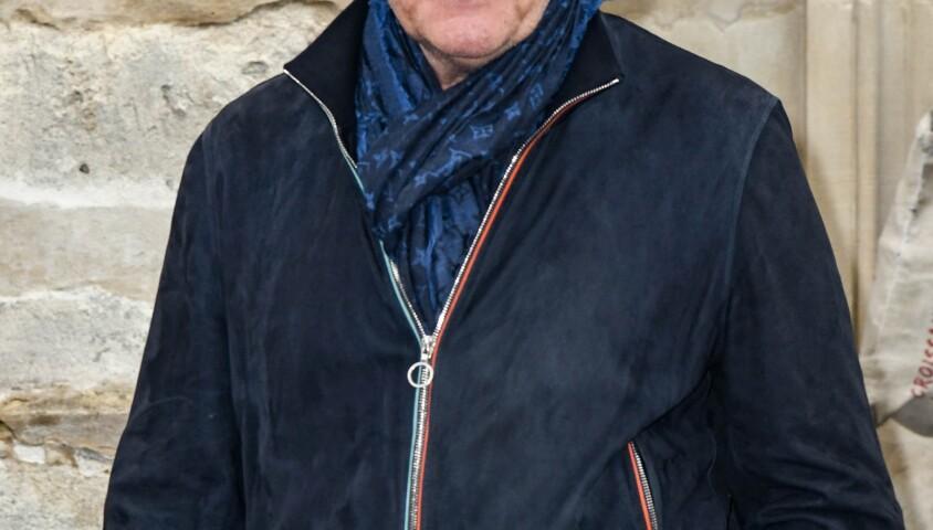 Francis Cabrel - Obsèques de Dick Rivers en l'église Saint-Pierre de Montmartre à Paris le 2 mai 2019.