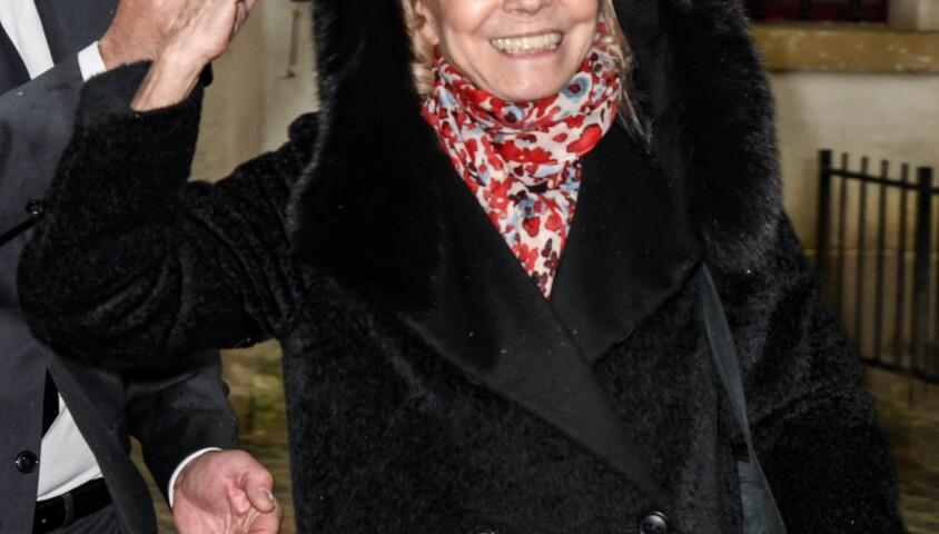 Isabelle Aubret - Obsèques de Dick Rivers en l'église Saint-Pierre de Montmartre à Paris le 2 mai 2019.