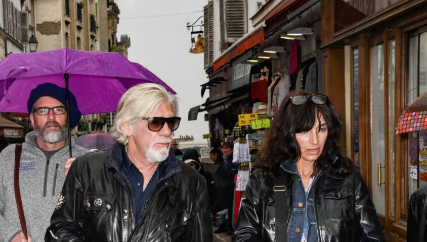 Pierre Billon et sa femme - Obsèques de Dick Rivers en l'église Saint-Pierre de Montmartre à Paris le 2 mai 2019.