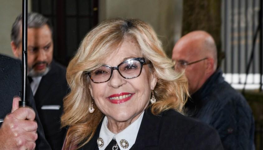Nicoletta - Obsèques de Dick Rivers en l'église Saint-Pierre de Montmartre à Paris le 2 mai 2019.