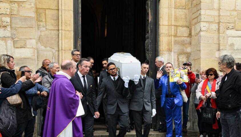 Pascal Forneri, le fils de Dick Rivers et Micheline Davis - Obsèques de Dick Rivers en l'église Saint-Pierre de Montmartre à Paris le 2 mai 2019.