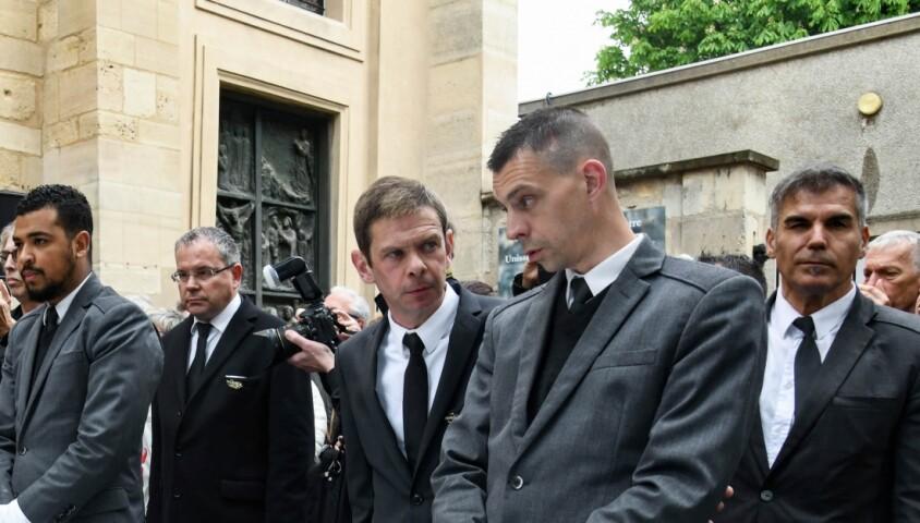 Babette, la femme de Dick Rivers - Obsèques de Dick Rivers en l'église Saint-Pierre de Montmartre à Paris le 2 mai 2019.