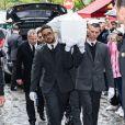 Obsèques de Dick Rivers en l'église Saint-Pierre de Montmartre à Paris le 2 mai 2019.