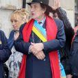 Alain Coquard, président de la République de Montmartre lors des obsèques de Dick Rivers en l'église Saint-Pierre de Montmartre à Paris le 2 mai 2019.