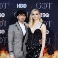 "Joe Jonas et sa femme Sophie Turner à la première de ""Game of Thrones - Saison 8"" au Radio City Music Hall à New York, le 3 avril 2019."