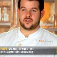 """Guillaume lors de la demi-finale de """"Top Chef 10"""" mercredi 1er mai 2019 sur M6."""