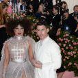 """Priyanka Chopra et son mari Nick Jonas - Arrivées des people à la 71ème édition du MET Gala (Met Ball, Costume Institute Benefit) sur le thème """"Camp: Notes on Fashion"""" au Metropolitan Museum of Art à New York, le 6 mai 2019"""