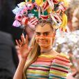 """Cara Delevingne - Arrivées des people à la 71ème édition du MET Gala (Met Ball, Costume Institute Benefit) sur le thème """"Camp: Notes on Fashion"""" au Metropolitan Museum of Art à New York, le 6 mai 2019. © Morgan Dessalles / Charles Guerin / Bestimage"""