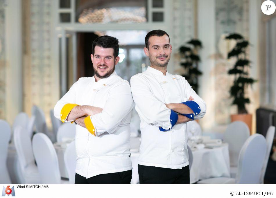 """Samuel et Guillaume lors de la grande finale de """"Top Chef 10"""", mercredi 8 mai 2019 sur M6."""