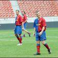 Bruno Putzulu, lors du match de football en faveur de deux associations humanitaires (et de ses 66 ans), au Parc des Princes, le 14 juin 2009 !