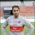 Henri Leconte, lors du match de football en faveur de deux associations humanitaires (et des 66 ans de Johnny), au Parc des Princes, le 14 juin 2009 !