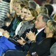 Léa Seydoux, Julianne Moore et Emma Stone - Défilé Louis Vuitton, collection croisière 2020 au TWA Flight Center, à l'aéroport JFK (John Fitzgerald Kennedy). New York, le 8 mai 2019.