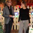 Exclusif - Lisa Rinna est allée fêter l'anniversaire de son mari Harry Hamlin avec ses filles Delilah et Amelia au restaurant Ivy à West Hollywood, le 1er novembre 2018