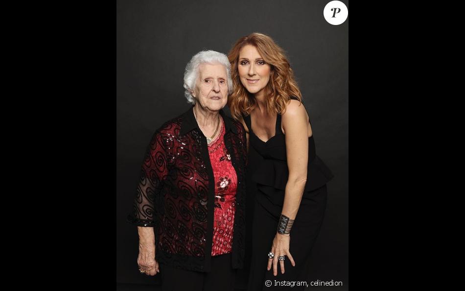 Céline Dion a posté cette photo d'elle avec sa mère Thérèse, sur Instagram, le 12 mai 2019.