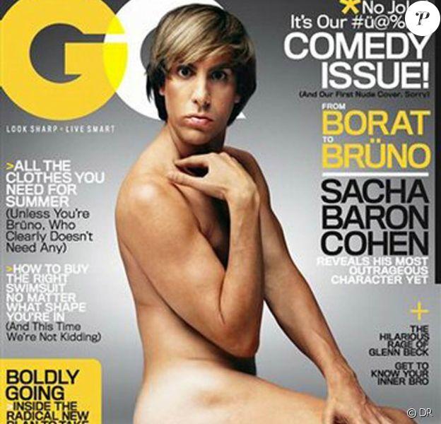 """Sacha Baron Cohen, alias Brüno, nu en couverture de """"GQ"""" !"""