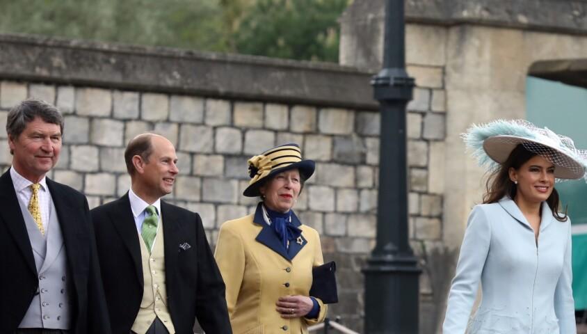 Timothy Laurence, Le prince Edward, comte de Wessex, la princesse Anne, Lady Frederick Windsor et le prince Harry - Mariage de Lady Gabriella Windsor avec Thomas Kingston dans la chapelle Saint-Georges du château de Windsor le 18 mai 2019.