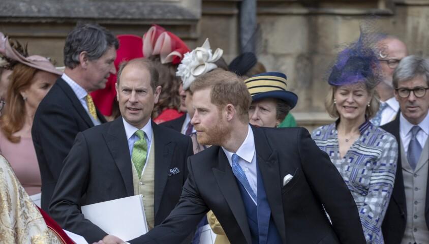 le prince Harry - Mariage de Lady Gabriella Windsor avec Thomas Kingston dans la chapelle Saint-Georges du château de Windsor le 18 mai 2019.