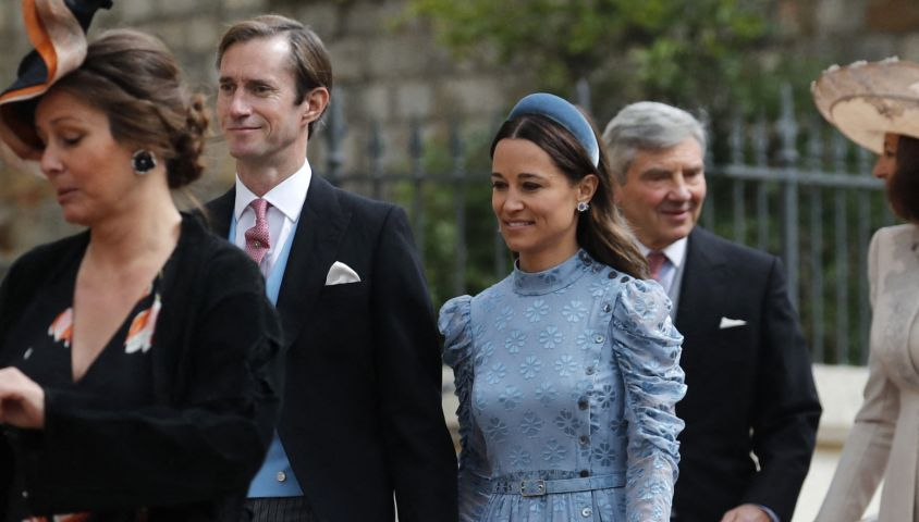 Pippa Middleton et James Matthews - Mariage de Lady Gabriella Windsor avec Thomas Kingston dans la chapelle Saint-Georges du château de Windsor le 18 mai 2019.