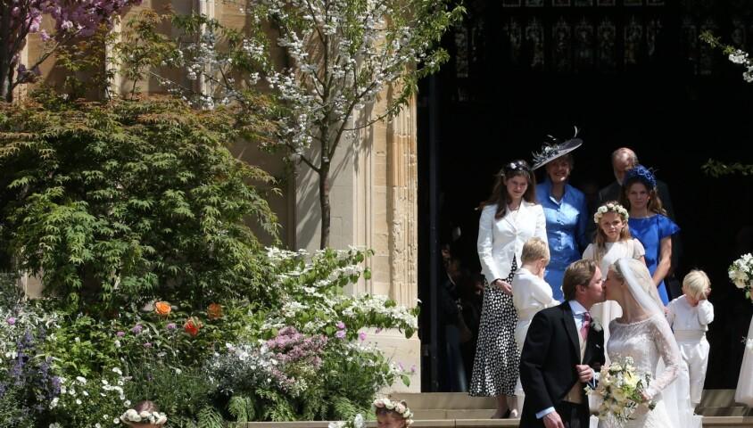 Lady Gabriella Windsor avec Thomas Kingston - Mariage de Lady Gabriella Windsor avec Thomas Kingston dans la chapelle Saint-Georges du château de Windsor le 18 mai 2019.