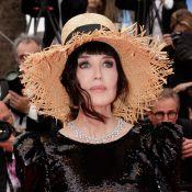 Isabelle Adjani : Robe noire et chapeau de paille au Festival de Cannes !