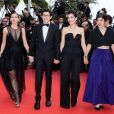 "Emma Liégeois, Jeremy Lewin, Mélanie Doutey, Lucie Digout assistent à la montée des marches du film ""La belle époque"" lors du 72ème Festival International du Film de Cannes. Le 20 mai 2019 © Borde / Bestimage"