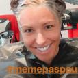 Natasha St-Pier a partagé cette photo d'elle chez le coiffeur en story Instagram, le 21 mai 2019
