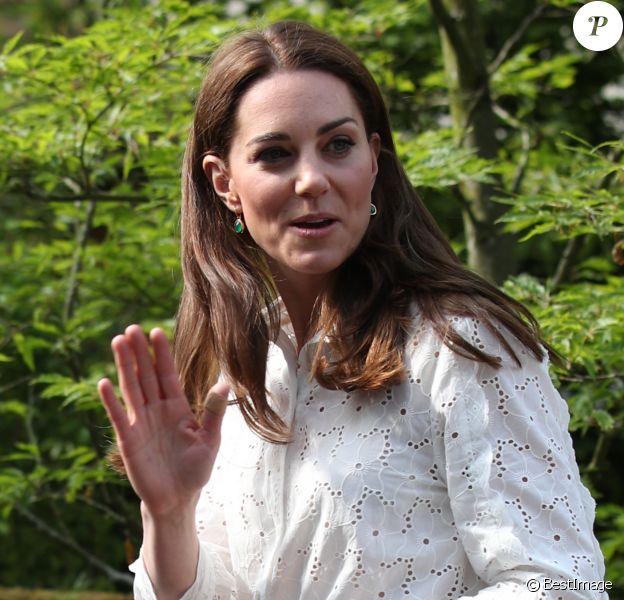 Catherine (Kate) Middleton, duchesse de Cambridge visite le RHS Chelsea Flower Show à Londres. Le 19 mai 2019.