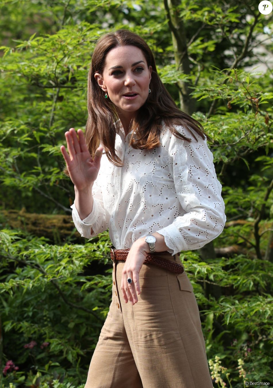 Catherine (Kate) Middleton, duchesse de Cambridge visite le RHS Chelsea Flower Show à Londres. Le 19 mai 2019.