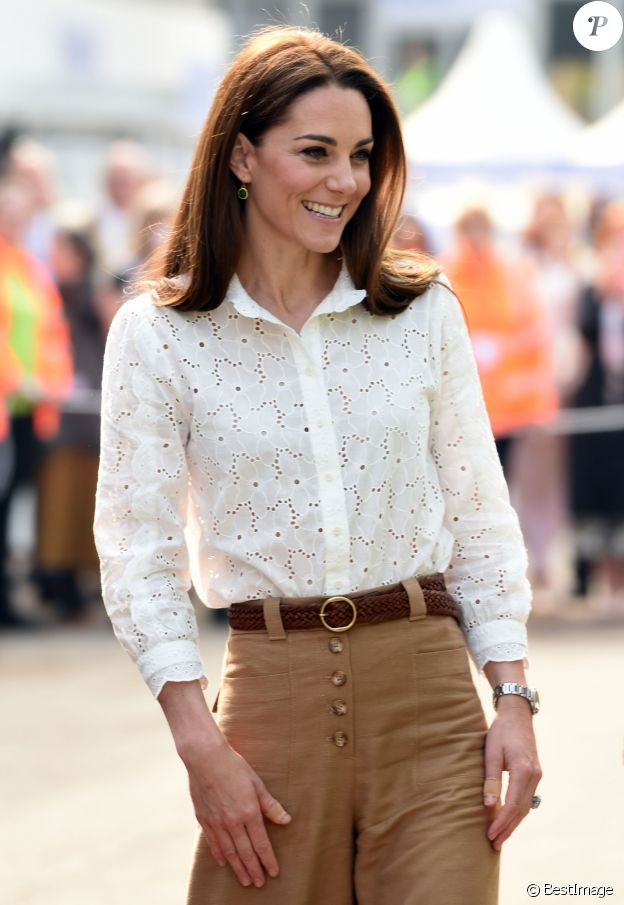 Catherine (Kate) Middleton, duchesse de Cambridge visite le RHS Chelsea Flower Show à Londres.Le 19 mai 2019.