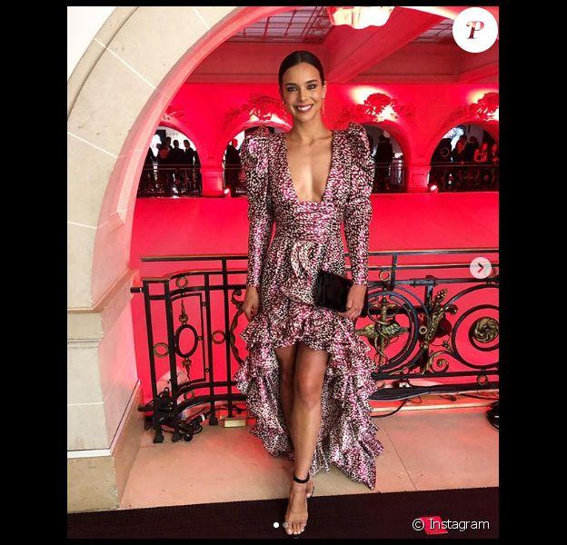 Marine Lorphelin sublime en robe décolletée Paule Ka au gala de la fondation Paris Saint-Germain - Les enfants d'abord, mercredi 22 mai 2019 à Paris.
