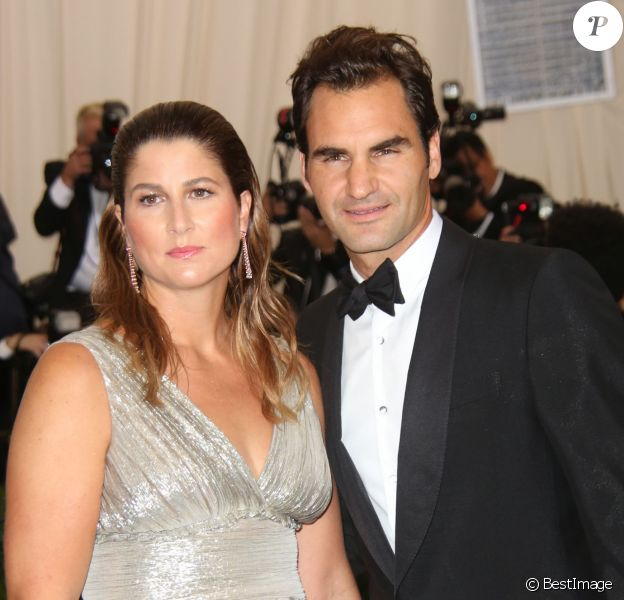 "Roger Federer et sa femme Mirka Federer - Les célébrités à la soirée MET 2017 Costume Institute Gala sur le thème de ""Rei Kawakubo/Comme des Garçons: Art Of The In-Between"" à New York au Club Standard, le 1er mai 2017 © Sonia Moskowitz/Globe Photos via Zuma/Bestimage01/05/2017 - New York"