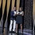 """Sylvester Stallone, Mati Diop (Grand prix pour """"Atlantique"""") - Cérémonie de clôture du 72ème Festival International du Film de Cannes. Le 25 mai 2019 © Borde-Jacovides-Moreau / Bestimage  Closing ceremony of the 72th Cannes International Film festival. On may 25th 201925/05/2019 - Cannes"""
